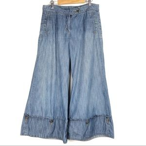 ANTHROPOLOGIE TAIKONHU Wide leg jeans 6 flare